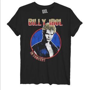 Billy Idol Rolled Sleeve Graphic T-Shirt